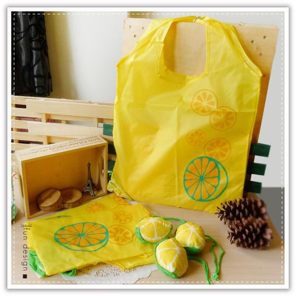 【aife life】柳丁折疊購物袋/柳橙購物袋/折疊環保袋 多功能收納袋 手提袋 肩背包 側背包