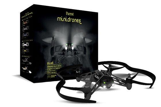 *╯新風尚潮流╭* Airborne Night Drone 智能 遙控飛機 黑 Parrot-AirNight-K
