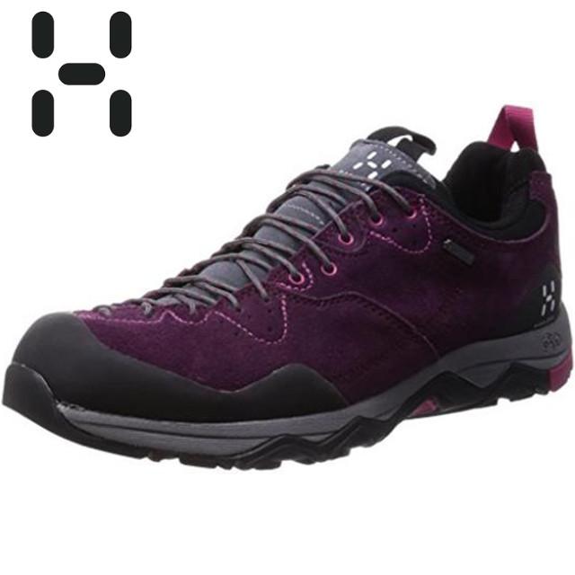 HAGLOFS 休閒鞋/登山鞋/防水健行鞋Rocker Leather GT 瑞典 女款Gore-tex鞋 491670-32Q茄子紫