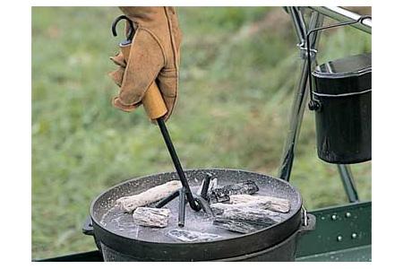 【露營趣】中和 日本 LOGOS LG81062202 荷蘭鍋起鍋勾 鍋蓋提把 起鍋鉗