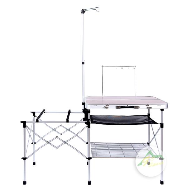 【露營趣】中和 GO SPORT 98001A 手提式新手料理桌 戶外廚桌 行動廚房 Coleman CM-3126J