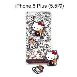 Hello Kitty 拭鏡貼透明軟殼 [塗鴉黑] iPhone 6 Plus 5.5吋【三麗鷗正版授權】
