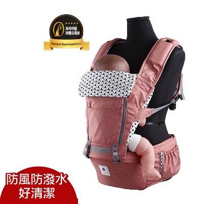 【送平安袋】Pognae NO.5超輕量機能坐墊型背巾/紐約紅 嬰兒背巾 揹帶 揹巾@六甲媽咪