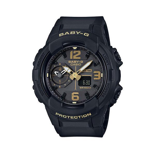 CASIO BABY-G BGA-230-1B 帥氣冬季雙顯流行腕錶/黑色42.9mm