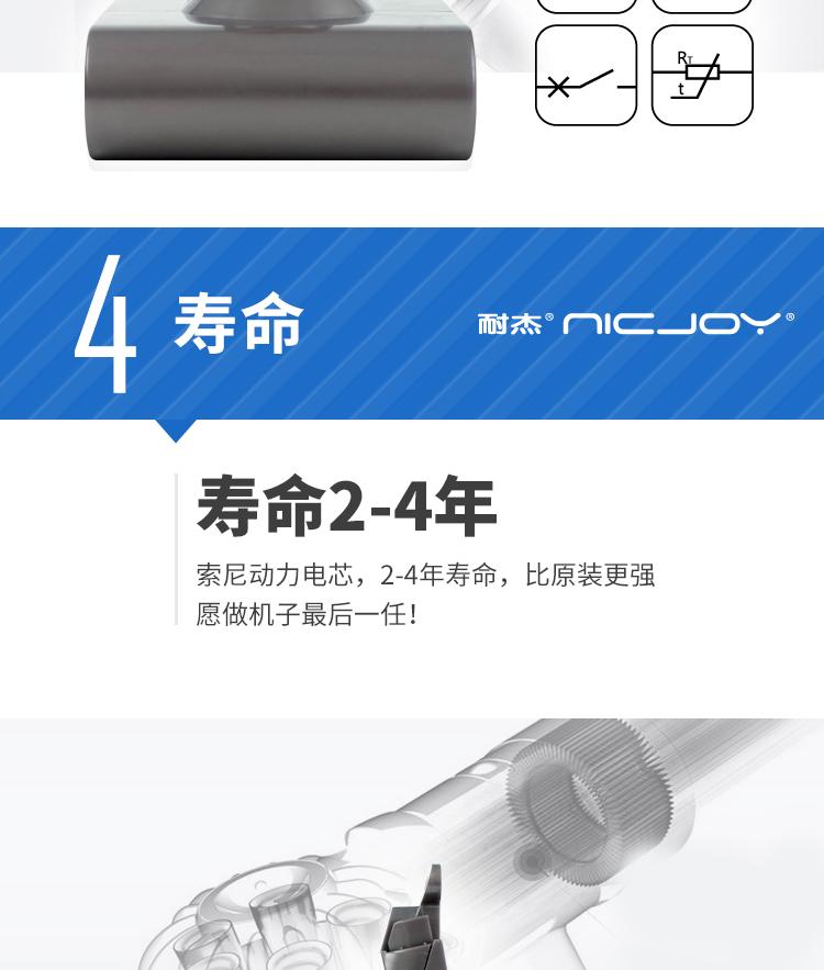 dyson V6 HH07 HH08 mattress 高容量 3000 mAh 白色 吸塵器副廠電池(送濾網一支)