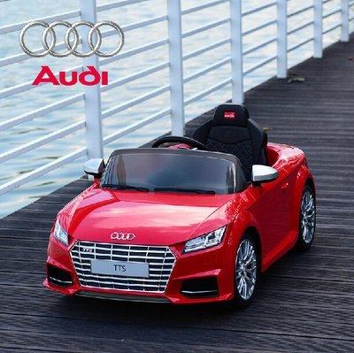 【淘氣寶寶】原廠授電動車Audi 奧迪TTS烤漆版電動車【2.4G/雙驅/緩起步/手動2段/搖控4段】