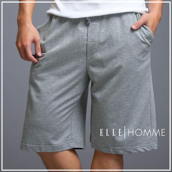 ELLE男性舒適居家休閒短褲-灰色 (休閒褲/運動褲/棉褲) E83124【中揚精品】(百貨專櫃正品)