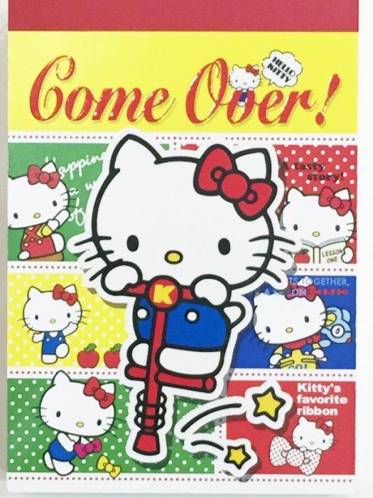 Hello Kitty 三麗鷗 Game Over MEMO紙 便條紙 記事本 文具 正版日本製造進口 JustGirl