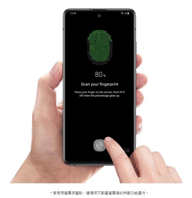 智慧光學指紋辨識技術,屏幕指紋傳感器,一指輕鬆unlock。