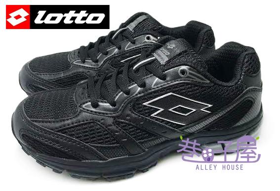 【巷子屋】義大利第一品牌-LOTTO樂得 女款ZENITH雙密度避震透氣超輕量運動慢跑鞋 [2660] 黑 超值價$590