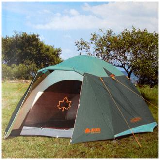 【露營趣】中和 套裝組 LOGOS LG71801724TW-G 綠楓270FR-IZ防燃5~6人露營帳篷 六人帳篷