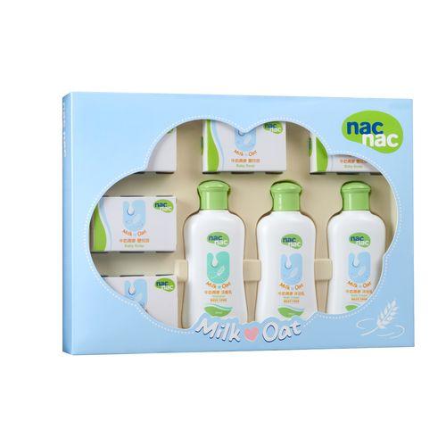 ★衛立兒生活館★寶貝可愛 Nac Nac 牛奶燕麥潔膚禮盒(8件組 )