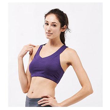 Ms.Free【Pro系列高階瑜伽】桃心領工字運動內衣-專為中強度運動設計 (紫色)