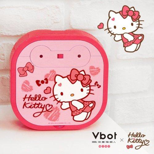 //聖誕節交換禮物// Vbot x Hello Kitty 二代限量 鋰電池智慧掃地機器人(極淨濾網型)(粉)