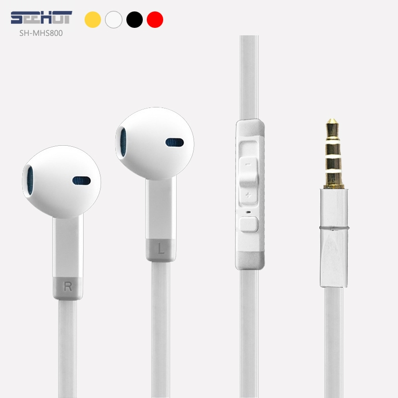 SeeHot 嘻哈部落 SH-MHS800 3.5mm 通用型 入耳式立體聲麥克風有線耳機/線控/iPad/iPhone/iPod/MP3/平板/HTC One M8/Sony Xperia Z2 /..