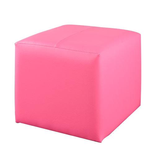生活大發現-(粉紅) 亮彩四方椅/沙發/皮沙發/單人沙發/沙發矮凳/和室椅/腳凳/台灣製造/八色可選