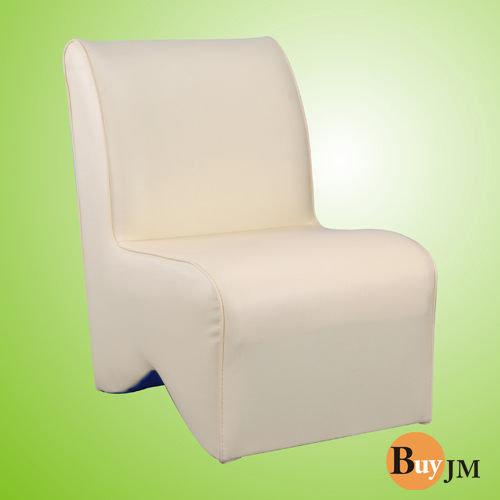 生活大發現-莎菲大造型椅(白)/單人沙發/沙發矮凳/皮沙發