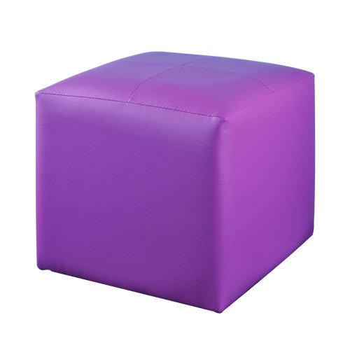 生活大發現-亮彩四方椅八色可選(紫) 單人沙發/和室椅/腳凳/台灣製造
