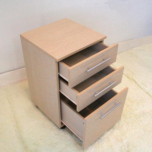 生活大發現-DIY家具-派克大三抽斗櫃/收納櫃/抽屜櫃/此為白橡下標區