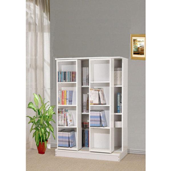 生活大發現-DIY家具全新小尺寸日式雙排活動書櫃全鋼鐵鋼珠滑輪不偷料木板/書櫃/組合櫃/高低櫃/展示櫃/此為白色下標區