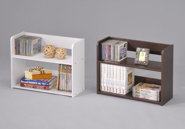 生活大發現-桌上型書架白色.原木色.深胡桃色 書櫃 CD架 雜誌架
