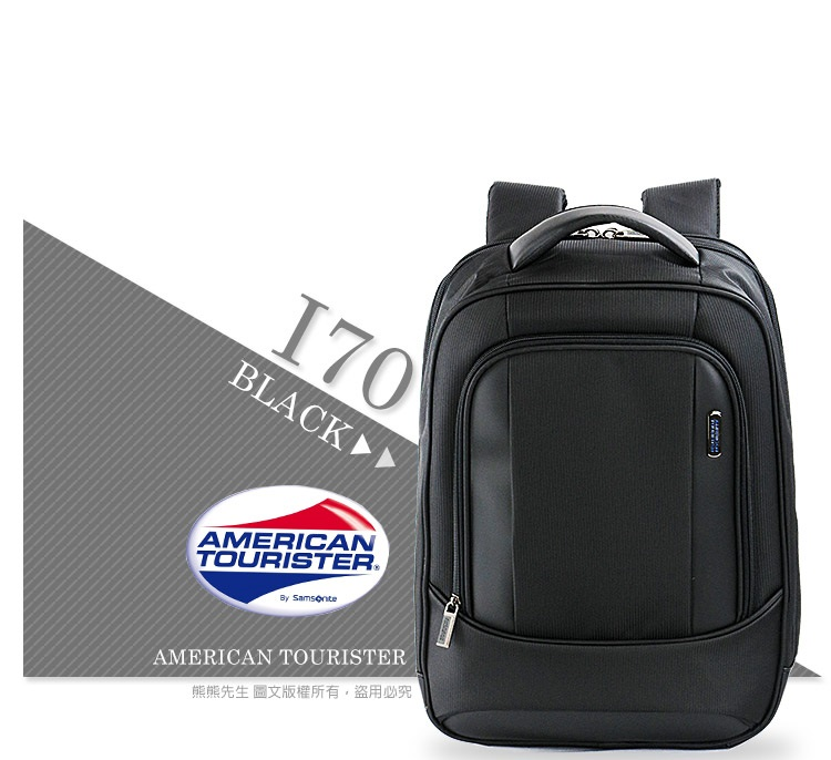 《熊熊先生》Samsonite新秀麗American Tourister 筆電商務包15.6吋 後背包 I70可插掛拉桿