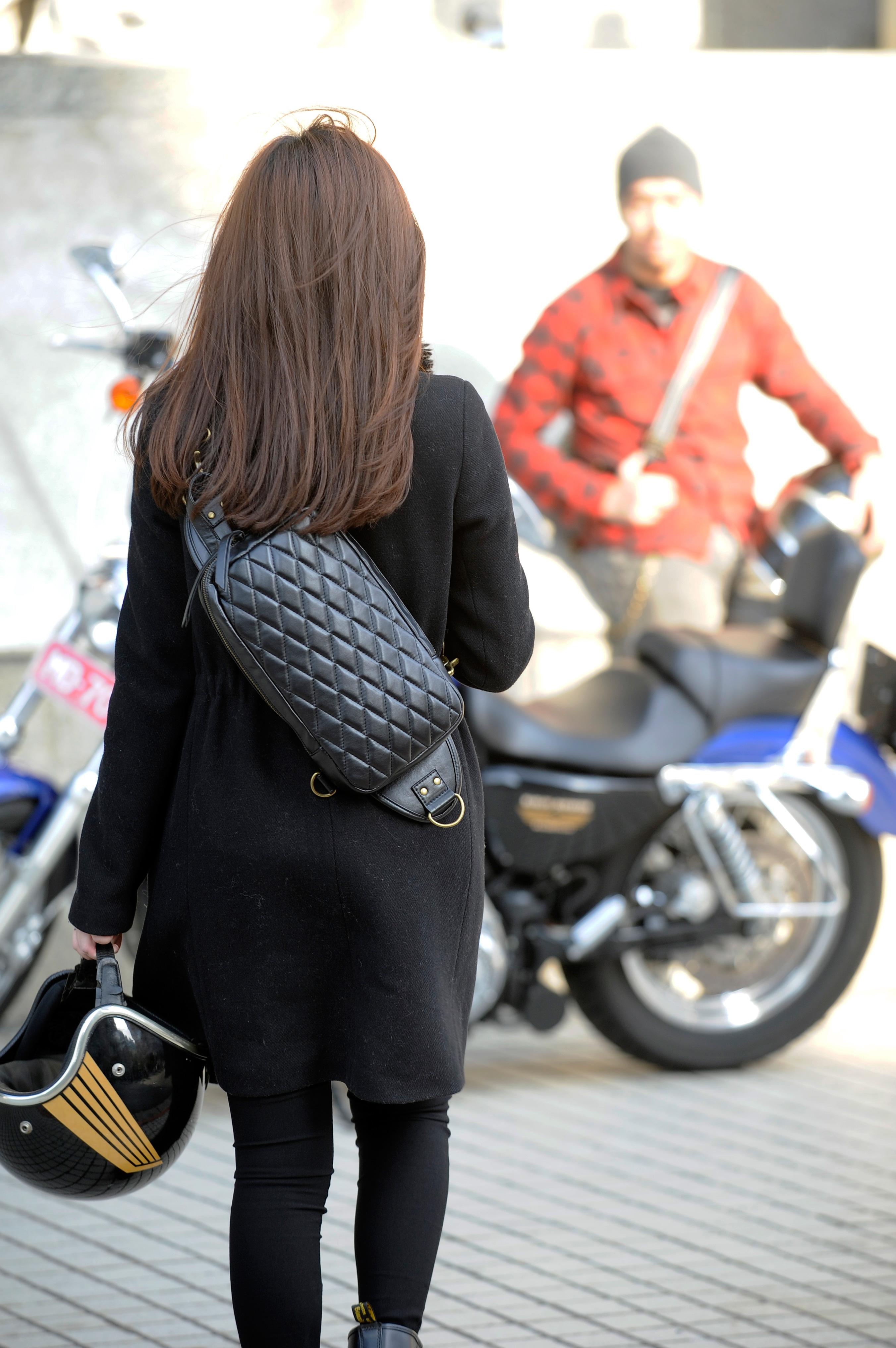 菱格紋 肩包 防潑水 FREE BIKER PU皮革 手工 騎士包 斜背包 平板