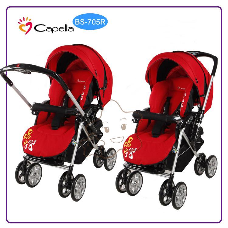 【大成婦嬰】Capella BS-705R 銀離子透氣雙向手推車