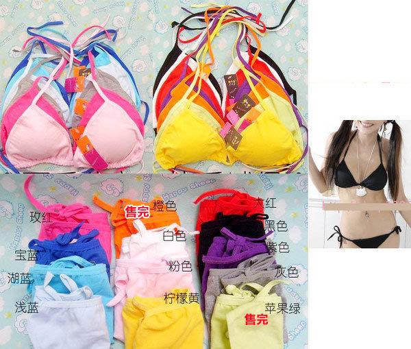 ※來福※棉質bikinni比基尼內衣套裝(內衣+內褲) ,1套直購價100元,現貨+預購7-10天