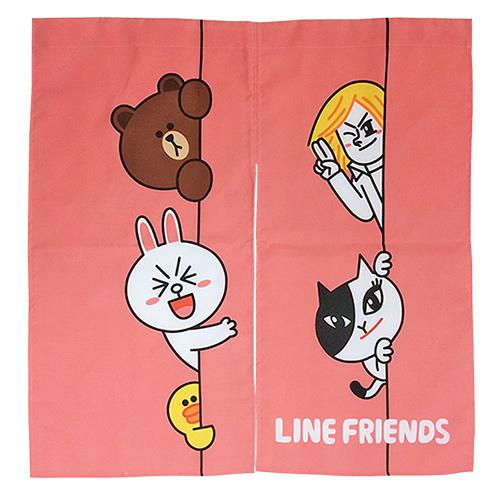【享夢城堡】LINE FRIENDS HI!我在這裡 門簾