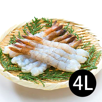 【台北濱江】鮮甜去殼拉長蝦4L(白蝦)280G/盒