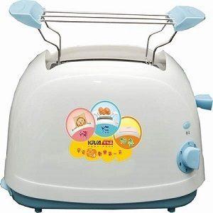 免運費 KRIA可利亞 烘烤二用笑臉麵包機 KR-8002(藍色)