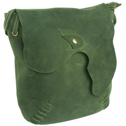 【H-CT】草綠 真皮 造型肩背包(S0223G)