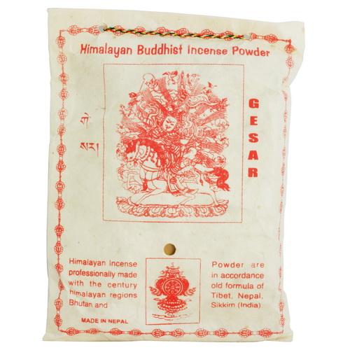 【藏傳佛教文物】給薩王 天然除障香粉 煙供粉-160g(PBI-10)