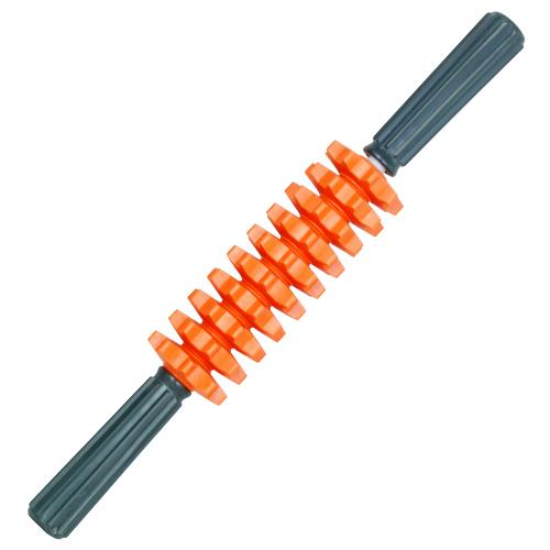 貼心 彈性滾輪 舒壓按摩棒-短(橘)