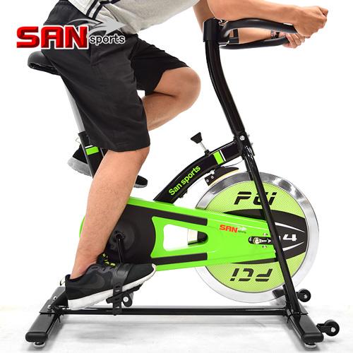 【SAN SPORTS 山司伯特】M4神采10KG飛輪健身車(2.5倍強度.10公斤飛輪車.運動健身器材.推薦哪裡買)C165-010