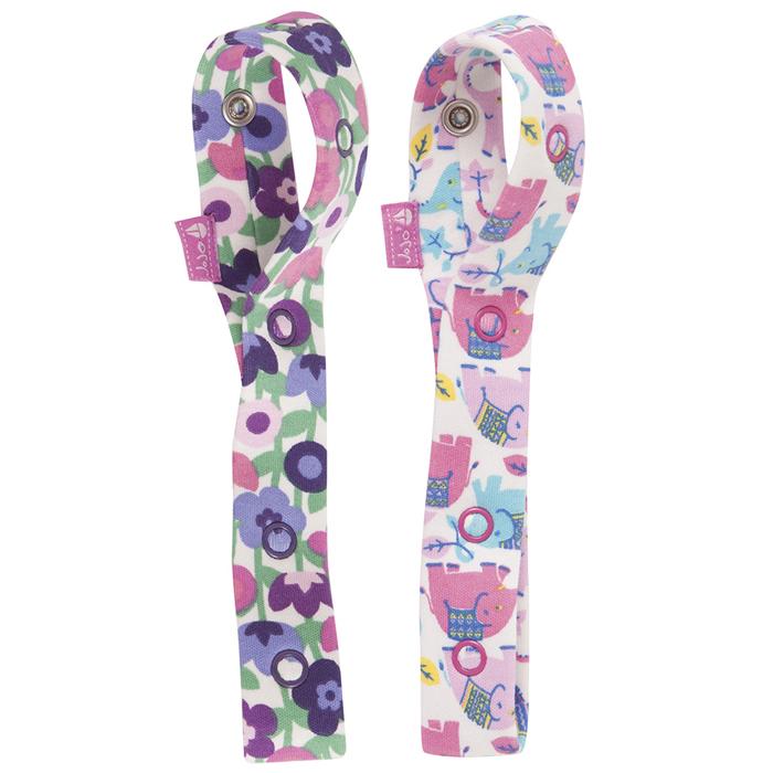 【HELLA 媽咪寶貝】英國 JoJo Maman BeBe 嬰幼兒玩具鍊/奶嘴鍊 兩入組 繽紛大象 (JJLF-03)