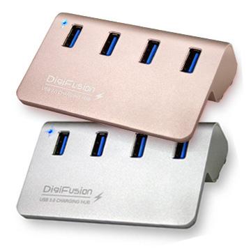 伽利略 Digifusion U3H04FC USB3.0 4埠 HUB 鋁合金(含變壓器) [天天3C]