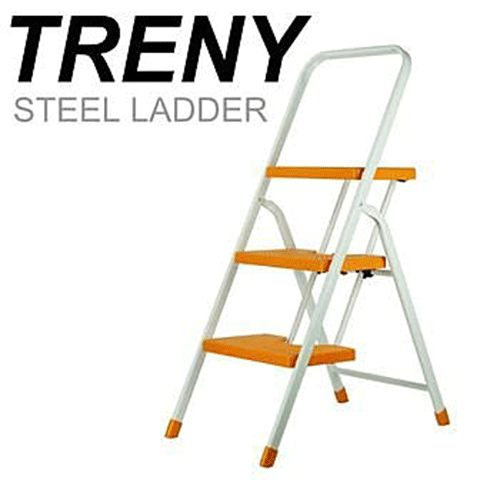 TRENY 3482 台製橘色三階扶手梯 工作梯 手扶梯 一字梯 A字梯 梯子