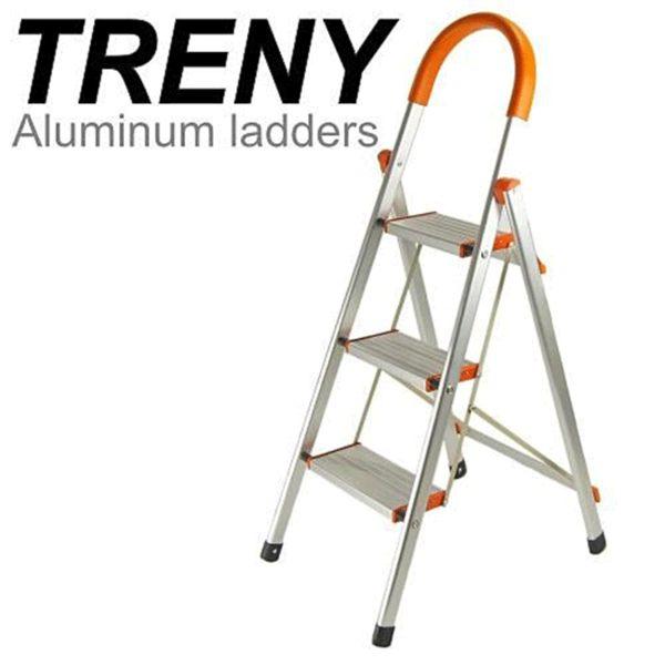 TRENY 4632 加寬鋁製三階扶手梯 工作梯 梯子 鋁梯 輕型梯