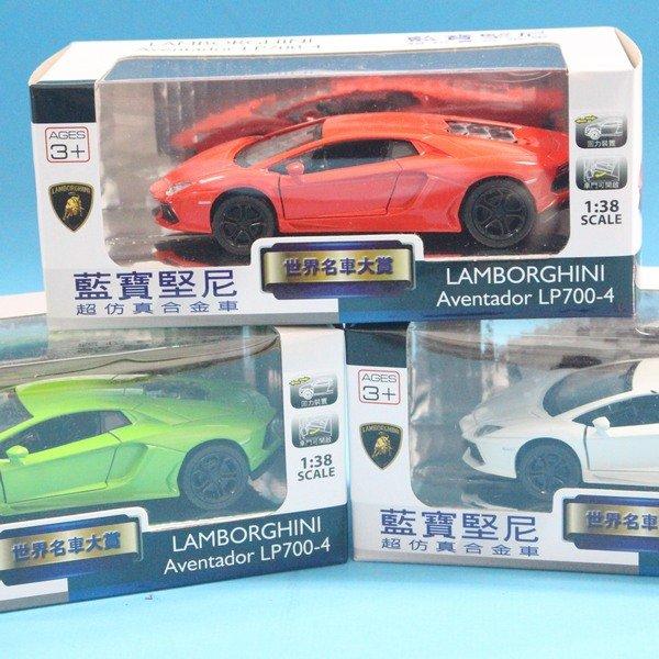 LAMBORGHINI藍寶堅尼 LP700-4 合金車1:38 模型車 TOP308迴力車(白盒)/一台入{促199}