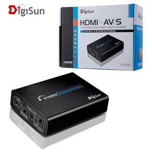[nova成功3C] DigiSun VH581 HDMI轉AV/S端子高解析影音訊號轉換器