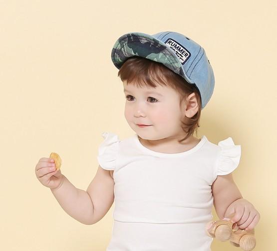 《任意門親子寶庫》兒童帽 棒球帽【CA034】迷彩軟沿牛仔棒球帽