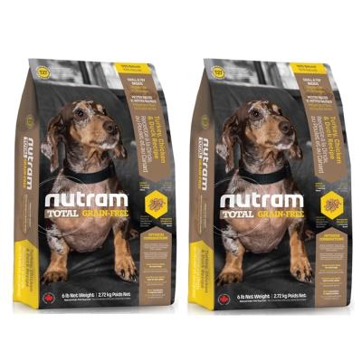 ★優逗★nutram 紐頓 T27 無殼全能系列 無殼迷你犬 火雞 2.72KG/2.72公斤