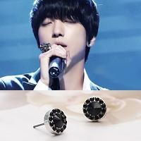 | Star World。Earring | CNBlue 鄭容和 同款繁星拱鑽圓耳釘耳環 (單支價)