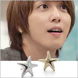 | Star World。Earring | CNBlue 鄭容和 同款簡約海星造型耳釘耳環 (單支價)
