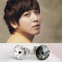 | Star World。Earring | CNBlue 容和 同款簡單時尚水晶圓耳釘耳環 (單支價)