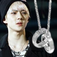 | Star World。Necklace | EXO SEHUN 吳世勳 同款雙圓環鑲鑽項鍊