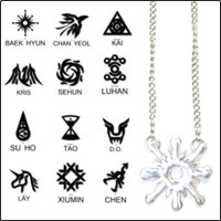 | Star World。Necklace | EXO 銀光個人符號標誌項鍊