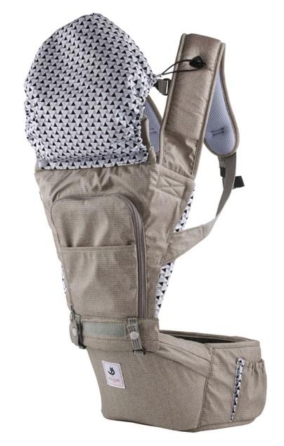 【淘氣寶寶】韓國 Pognae No.5超輕量機能坐墊型背巾-巴黎摩卡【贈純植物精油防蚊液 60ml】